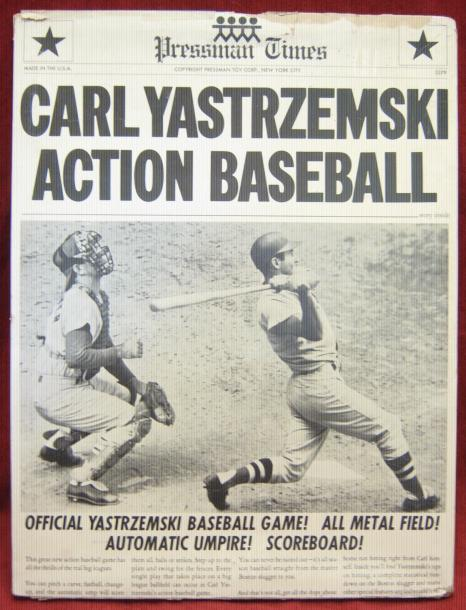 Pressman CARL YASTRZEMSKI ACTION BASEBALL Game 1968