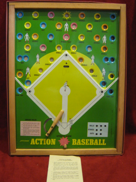 pressman action baseball game parts 196? Edition