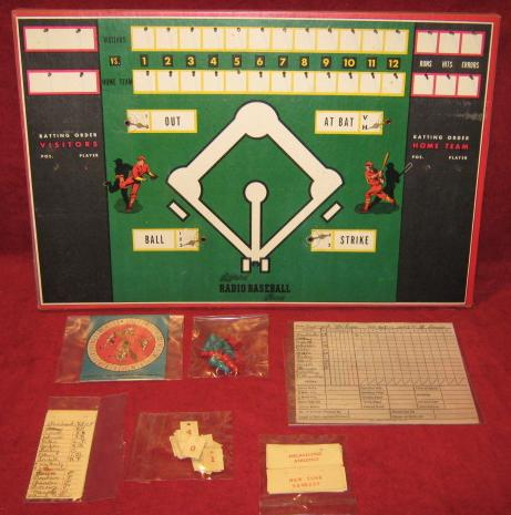 Toy Creations Official Radio Baseball Game parts