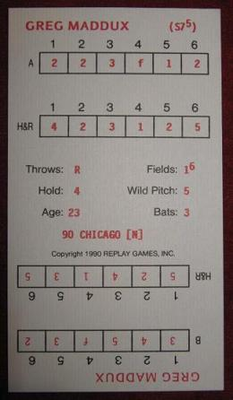 replay baseball game card 1990