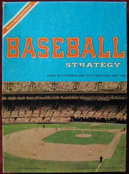 Avalon Hill Baseball Strategy Game Box 1973