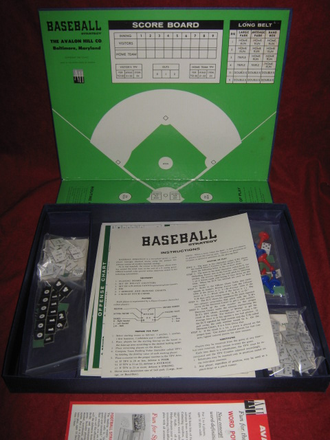 Avalon Hill Baseball Strategy Game Parts 1966