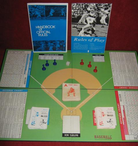 Avalon Hill Baseball Strategy Game Parts 1973