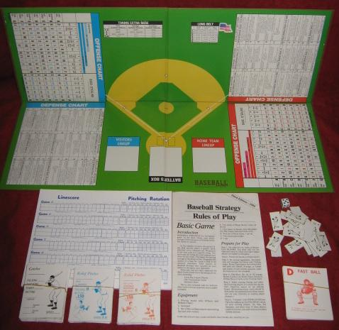 Avalon Hill Baseball Strategy Game Parts 1984