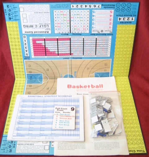Avalon Hill Basketball Strategy Game Parts 1974