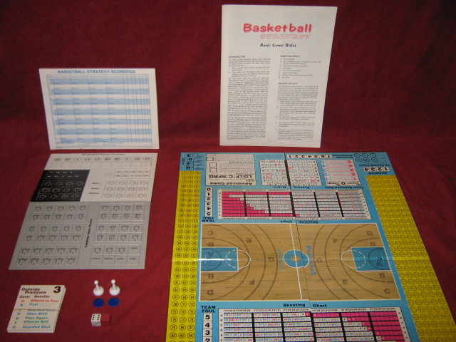 Avalon Hill Basketball Strategy Game Parts 1981