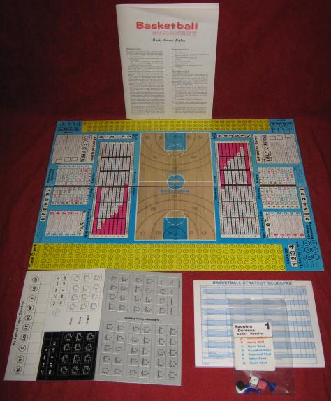 Avalon Hill Basketball Strategy Game Parts 1982