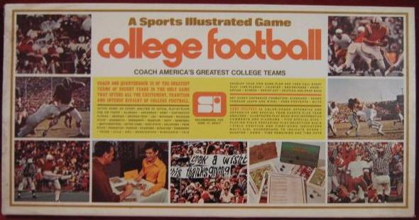 sports illustrated bowl bound college football game box 1972