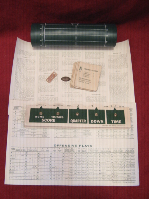 Football Strategy Game Parts 1959