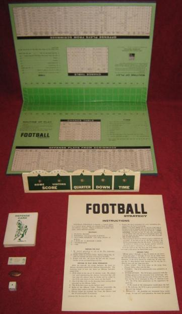 Avalon Hill Football Strategy Game Parts 1962