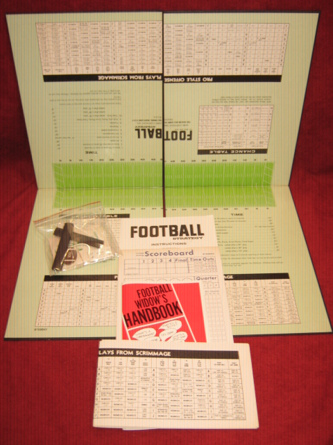 Avalon Hill Football Strategy Game Parts 1978