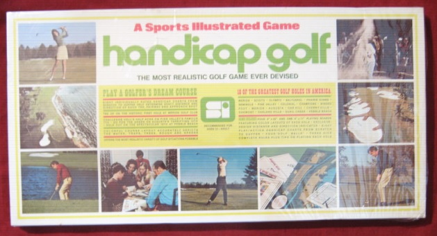 sports illustrated HANDICAP GOLF game BOX 1972