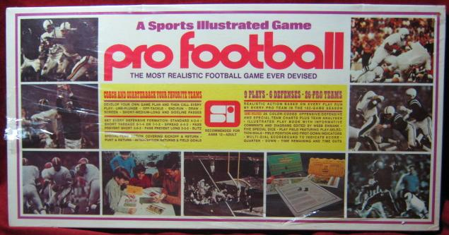 sports illustrated pro football game box 1971 sealed