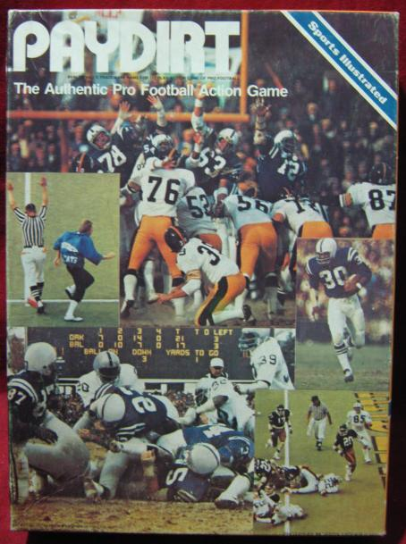 sports illustrated paydirt football game box 1978