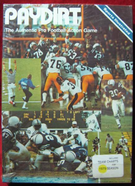 sports illustrated paydirt football game box 1979