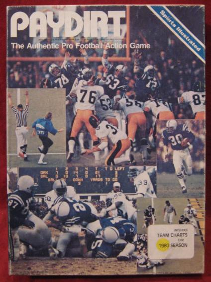 sports illustrated paydirt football game box 1980