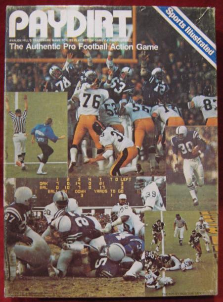 sports illustrated paydirt football game box 1984