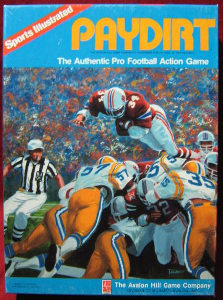 sports illustrated paydirt football game box 1986