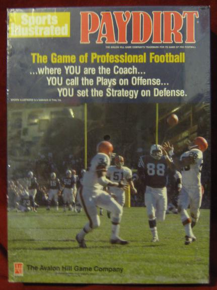 sports illustrated paydirt football game box 199?