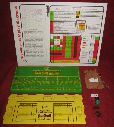 sports illustrated paydirt pro football game parts
