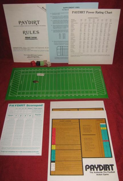 sports illustrated paydirt pro football game parts 1983