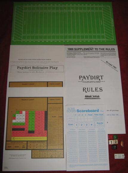 sports illustrated paydirt pro football game parts 1988