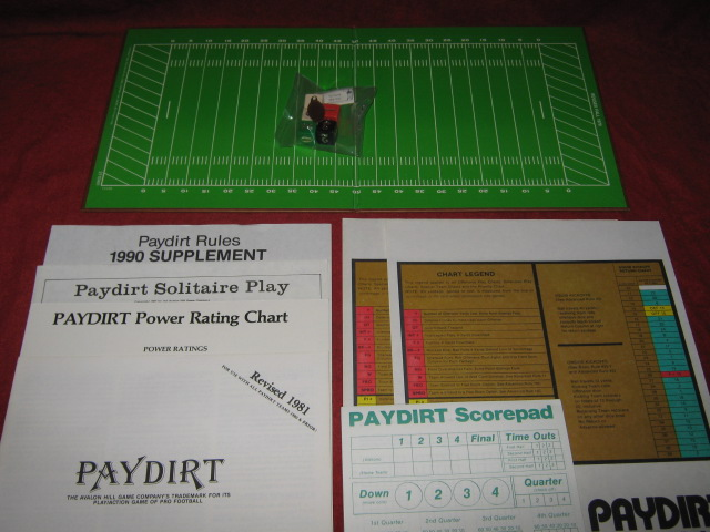 sports illustrated paydirt pro football game parts 1989