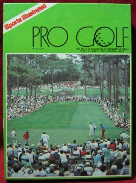sports illustrated PRO GOLF game box 1982
