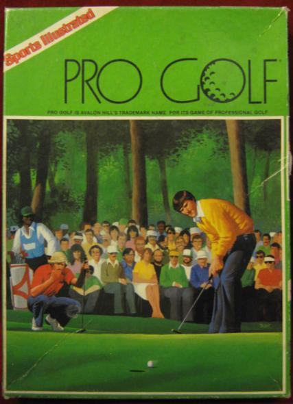 sports illustrated PRO GOLF game box 1986