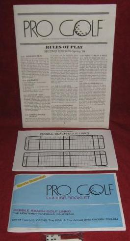 SPORTS ILLUSTRATED PRO GOLF Game parts 1986