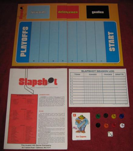 Avalon Hill Slapshot Game Parts 1982
