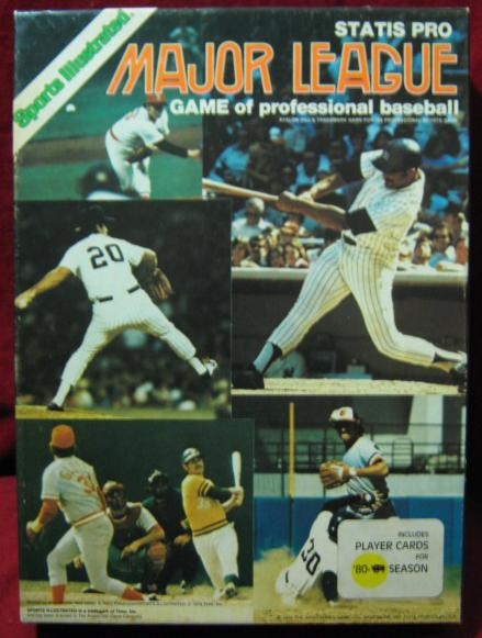 statis pro baseball game box 1980