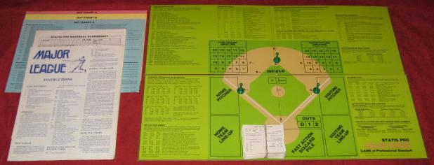 statis pro baseball game parts 1980