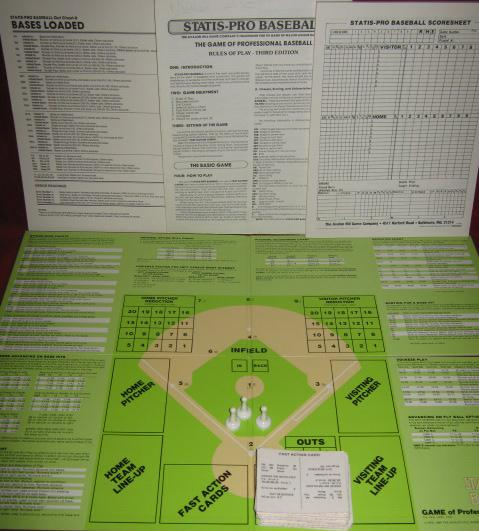 statis pro baseball game parts 1992