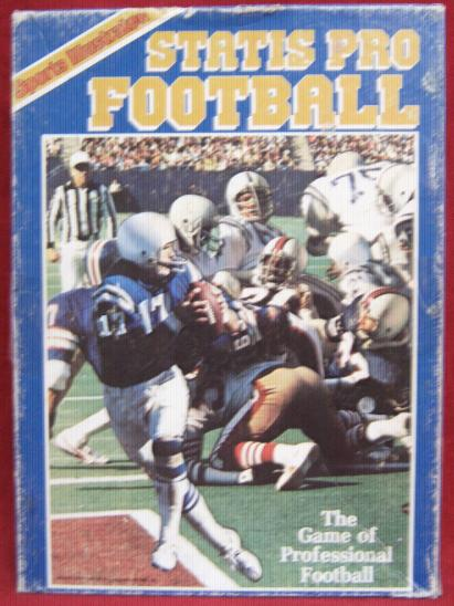 statis pro football game box 1981