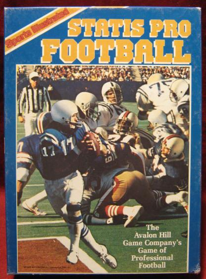 sports illustrated statis pro football game box 1986