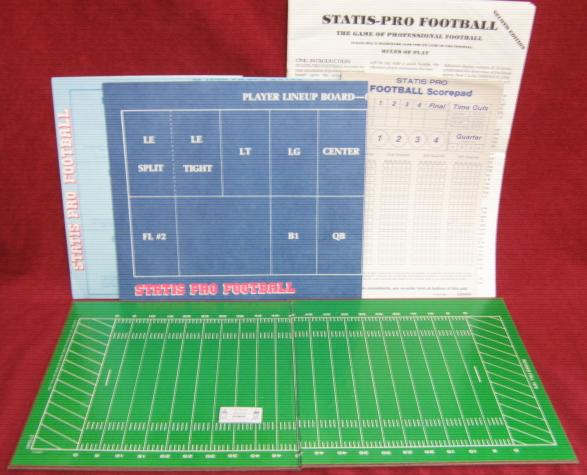 statis pro football game parts 1981