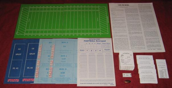 sports illustrated statis pro football game parts