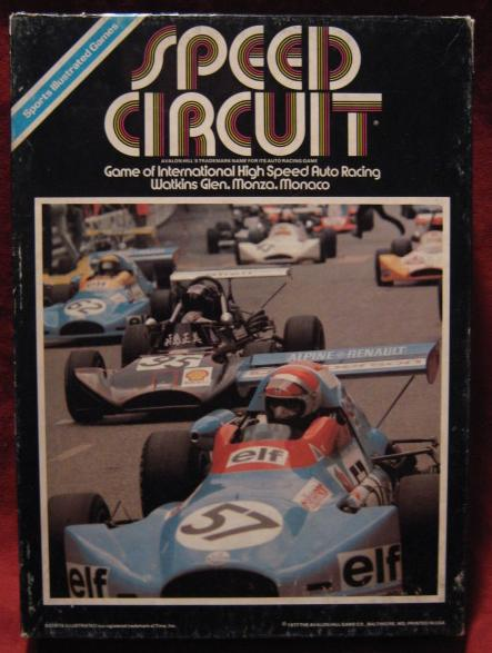 Avalon Hill Speed Circuit game box 1979