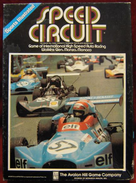 Avalon Hill Speed Circuit game box 1982