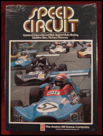 Avalon Hill Speed Circuit game box 1989
