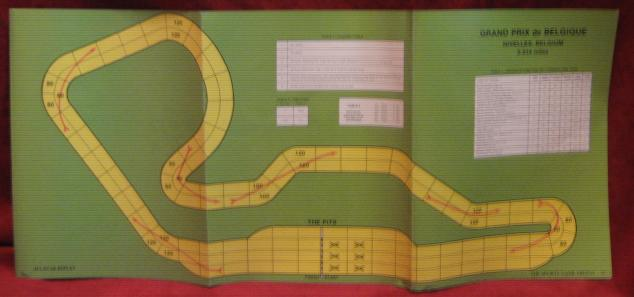 Avalon Hill Speed Circuit Game Belguim Course