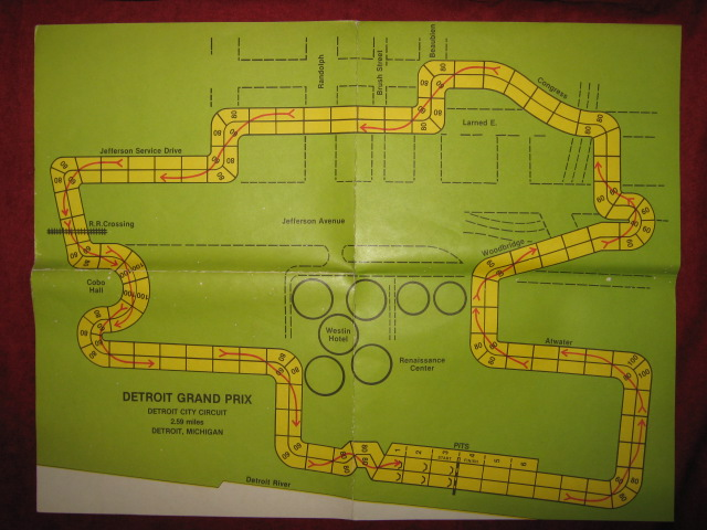 Avalon Hill Speed Circuit Game DETROIT Course