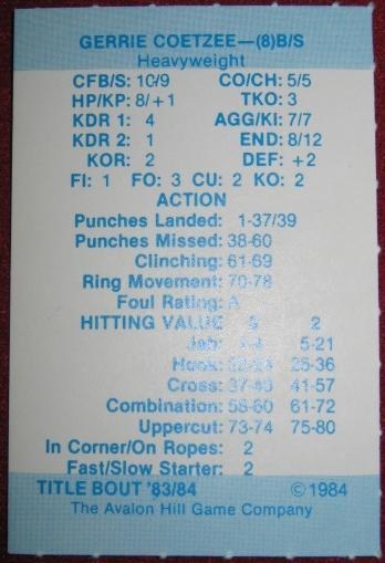 title bout boxing cards 1983-84