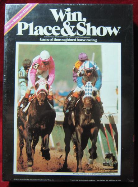 Avalon Hill Win Place and Show game box 1977