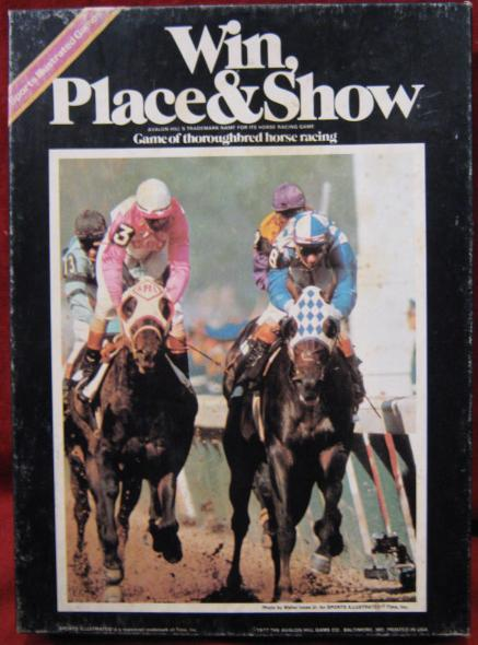 Avalon Hill Win Place and Show game box