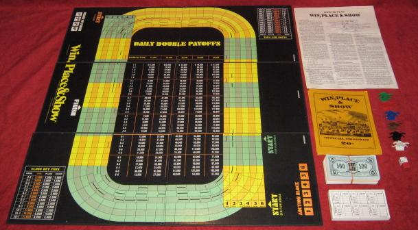 Avalon Hill Win Place and Show Game Parts 1977