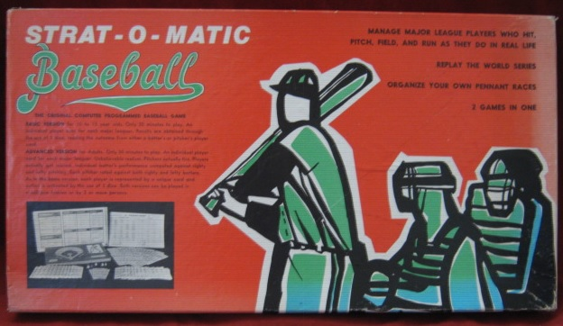 strat-o-matic baseball game box 1973