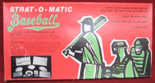 strat-o-matic baseball game box 1975
