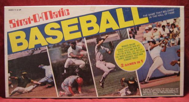 strat-o-matic baseball game box 1992